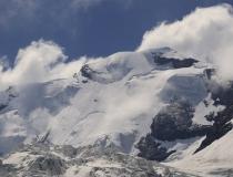 Pohled na Wilde Frau 3 274 m n.m. (Švýcarsko)