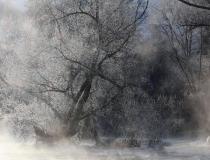 38.Mrazivé ráno u řeky Sázavy