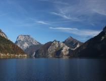 Podzim u jezera Ebensee (Rakousko)