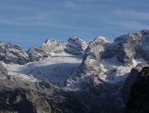Pohled na Dachstein 2995 m n.m. (Rakousko)