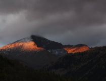 Večer v NP Vysoké Taury (Rakousko)
